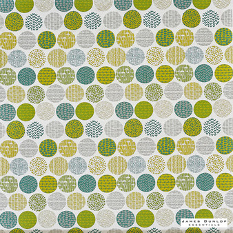 James Dunlop Essentials Planter - Cactus | Curtain Fabric - Green, Geometric, Circles, Natural, Pattern, Print, Natural Fibre, Standard Width
