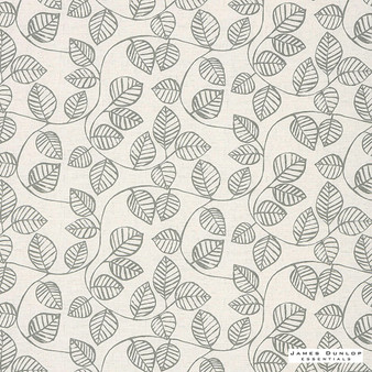 James Dunlop Essentials Vine - Pebble | Curtain Fabric - Grey, Floral, Garden, Botantical, Natural, Pattern, Print, Natural Fibre, Standard Width