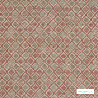 Warwick Halliwell - Rose  | Upholstery Fabric - Pink, Purple, Red, Contemporary, Diamond, Harlequin, Mediterranean, Kilim, Geometric, Australian Made