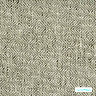 Warwick Abbas - Natural  | Upholstery Fabric - Beige, Diamond, Harlequin, Ikat, Geometric, Bacteria Resistant, Insect Resistant, Stain Repellent