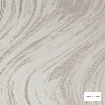 Clarke & Clarke - Agata Ivory    Curtain & Upholstery fabric - Whites, Abstract, Marble, Fibre Blend