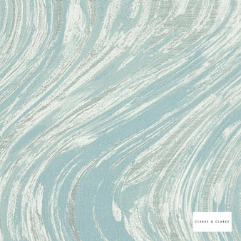Clarke & Clarke - Agata Mineralivory  | Curtain & Upholstery fabric - Blue, Abstract, Marble, Fibre Blend