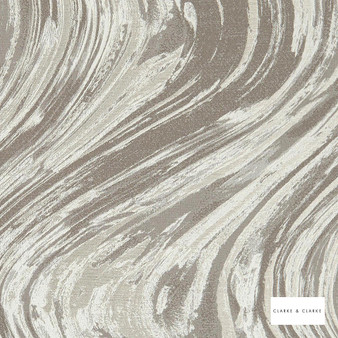 Clarke & Clarke - Agata Taupeivory  | Curtain & Upholstery fabric - Beige, Abstract, Marble, Fibre Blend