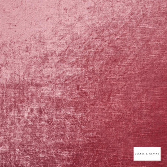 Clarke & Clarke - Allure Candy  | Curtain & Upholstery fabric - Pink, Purple, Velvets, Plain