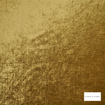 Clarke & Clarke - Allure Gold  | Curtain & Upholstery fabric - Gold, Yellow, Velvets, Plain