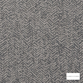 Clarke & Clarke - Alpine Gunmetal  | Curtain & Curtain lining fabric - Grey, Abstract