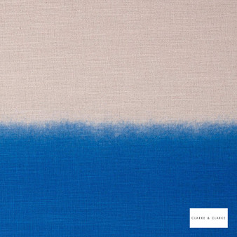 Clarke & Clarke - Amore Riviera  | Curtain & Upholstery fabric - Blue, Abstract, Print, Fibre Blend
