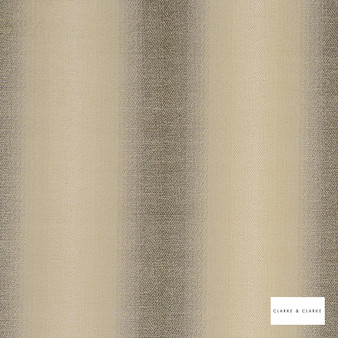 Clarke & Clarke - Antico Charcoal    Curtain & Upholstery fabric - Gold, Yellow, Stripe, Abstract, Fibre Blend