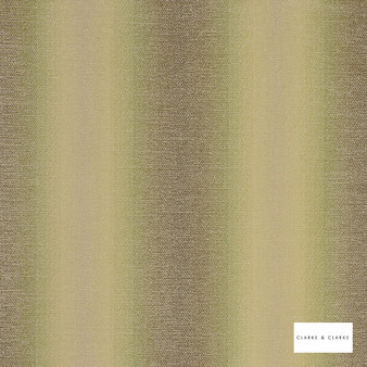 Clarke & Clarke - Antico Olive    Curtain & Upholstery fabric - Green, Stripe, Abstract, Fibre Blend
