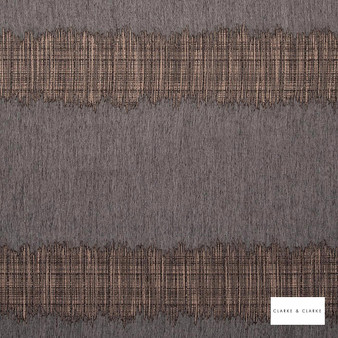 Clarke & Clarke - Array Charcoal  | Curtain & Curtain lining fabric - Brown, Gold, Yellow, Stripe