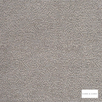 Clarke & Clarke - Beauvoir Charcoal  | Curtain & Upholstery fabric - Beige, Abstract, Plain, Fibre Blend
