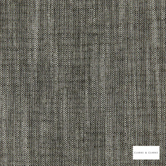 Clarke & Clarke - Biarritz Charcoal  | Curtain & Upholstery fabric - Linen/Linen Look, Black, Charcoal, Plain, Rustic, Rust, Fibre Blend