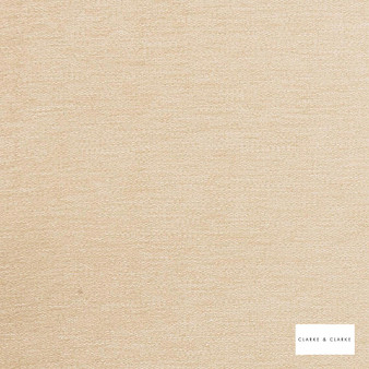 Clarke & Clarke - Brina Cream  | Curtain & Upholstery fabric - Beige, Gold, Yellow, Plain