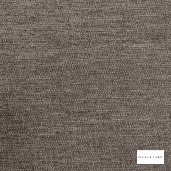 Clarke & Clarke - Brina Iron  | Curtain & Upholstery fabric - Brown, Plain