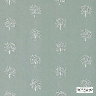Morris and Co - Woodland Tree 234558  | Curtain Fabric - Green, Floral, Garden, Botantical, Craftsman, Natural, Foulard, Small Scale, Natural Fibre
