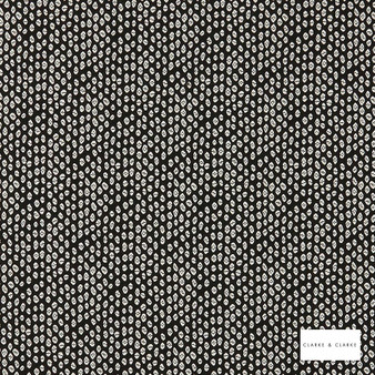 Clarke & Clarke - Bw1015 Blackwhite  | Curtain & Upholstery fabric - Black, Charcoal, Abstract