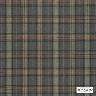 Morris and Co - Woodford Plaid DMORWP303    Curtain & Upholstery fabric - Fire Retardant, Green, Traditional, Check, Natural, Plaid, Natural Fibre