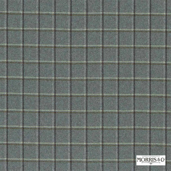 Morris and Co - Woodford Check DMORWC303    Curtain & Upholstery fabric - Fire Retardant, Grey, Check, Natural, Natural Fibre, Standard Width