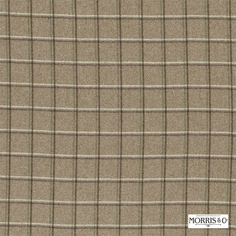 Morris and Co - Woodford Check DMORWC304    Curtain & Upholstery fabric - Fire Retardant, Brown, Check, Industrial, Natural, Natural Fibre