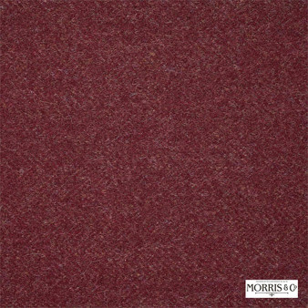 Morris and Co - Woodford DMORWO301    Curtain & Upholstery fabric - Fire Retardant, Red, Traditional, Herringbone, Natural, Plain, Natural Fibre