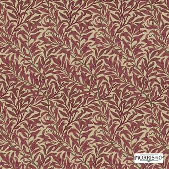 Morris and Co - Willow Bough 230288  | Curtain & Upholstery fabric - Red, Floral, Garden, Botantical, Farmhouse, Fibre Blend, Standard Width