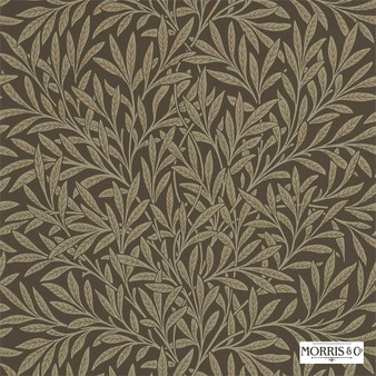 Morris and Co - Willow 210380  | Wallpaper, Wallcovering - Fire Retardant, Brown, Floral, Garden, Botantical, Farmhouse