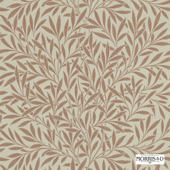 Morris and Co - Willow 210381  | Wallpaper, Wallcovering - Fire Retardant, Brown, Floral, Garden, Botantical, Farmhouse