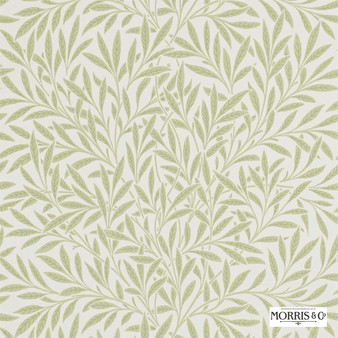 Morris and Co - Willow 210383  | Wallpaper, Wallcovering - Fire Retardant, Green, Floral, Garden, Botantical, Farmhouse