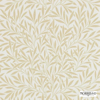 Morris and Co - Willow 210385  | Wallpaper, Wallcovering - Fire Retardant, Beige, Floral, Garden, Botantical, Farmhouse