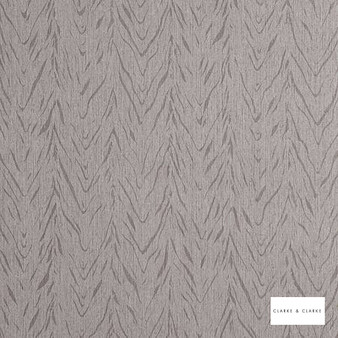 Clarke & Clarke - Cascade Pewter  | Wallpaper, Wallcovering - Vinyl, Tan, Taupe, Abstract, Chevron, Zig Zag, Print