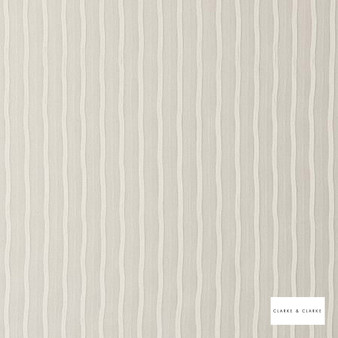 Clarke & Clarke - Cecilia Ivory  | Curtain & Curtain lining fabric - Stripe, Whites