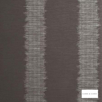 Clarke & Clarke - Echo Granite  | Wallpaper, Wallcovering - Vinyl, Brown, Stripe, Print