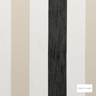 Clarke & Clarke - Ferndale Charcoal  | Curtain & Upholstery fabric - Beige, Stripe, Traditional, Natural, Natural Fibre