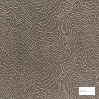 Clarke & Clarke - Fiji Mink  | Curtain & Upholstery fabric - Brown, Abstract, Vermicular, Fibre Blend