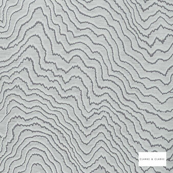 Clarke & Clarke - Fiji Slate Wp  | Wallpaper, Wallcovering - Grey, Abstract, Vermicular, Print