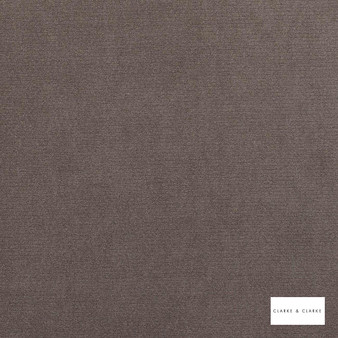 Clarke & Clarke - Fossil Cinder  | Curtain & Upholstery fabric - Brown, Plain