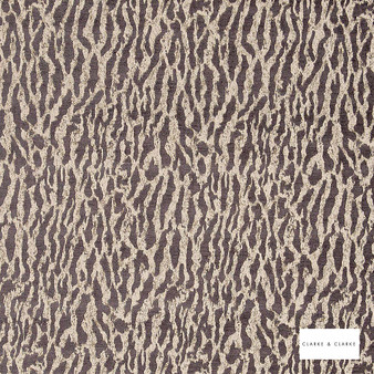 Clarke & Clarke - Gautier Espresso 2  | Curtain & Upholstery fabric - Brown, Abstract, Vermicular, Fibre Blend
