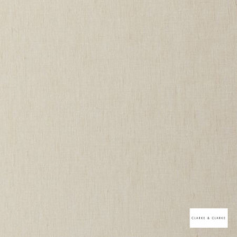 Clarke & Clarke - Gino Cream  | Curtain & Curtain lining fabric - Whites, Plain, Fibre Blend