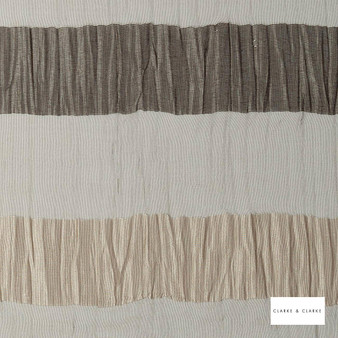 Clarke & Clarke - Giorgio Charcoal  | Curtain & Curtain lining fabric - Black, Charcoal, Stripe