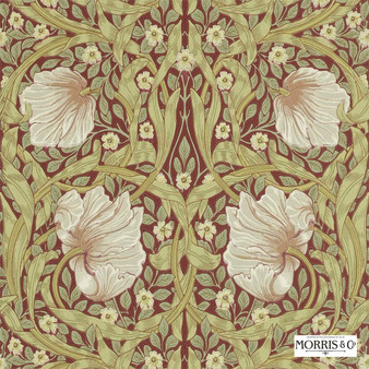 Morris and Co - Pimpernel 210386  | Wallpaper, Wallcovering - Fire Retardant, Gold, Yellow, Floral, Garden, Botantical, Art Nouveau, Craftsman