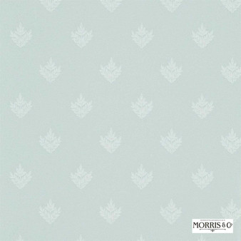 Morris and Co - Pearwood DMORPE101  | Wallpaper, Wallcovering - Fire Retardant, Grey, Traditional, Craftsman, Foulard, Small Scale