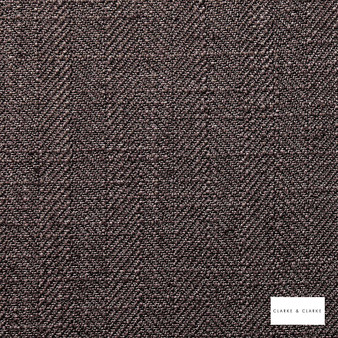 Clarke & Clarke - Henley Charcoal  | Curtain & Upholstery fabric - Linen/Linen Look, Black, Charcoal, Herringbone, Plain, Fibre Blend