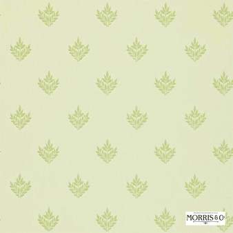 Morris and Co - Pearwood DMORPE102  | Wallpaper, Wallcovering - Fire Retardant, Green, Floral, Garden, Botantical, Traditional, Craftsman, Foulard