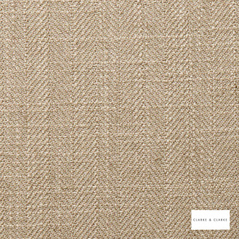 Clarke & Clarke - Henley Latte  | Curtain & Upholstery fabric - Linen/Linen Look, Brown, Herringbone, Plain, Fibre Blend