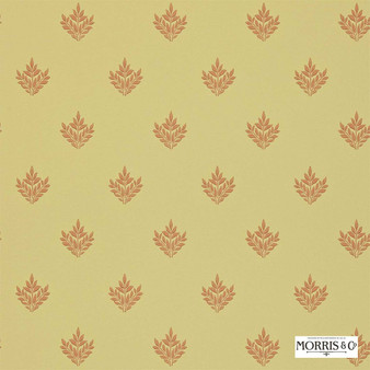 Morris and Co - Pearwood DMORPE106  | Wallpaper, Wallcovering - Fire Retardant, Gold, Yellow, Floral, Garden, Botantical, Traditional, Craftsman