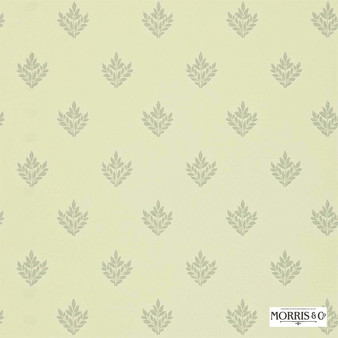 Morris and Co - Pearwood DMORPE109  | Wallpaper, Wallcovering - Fire Retardant, Gold, Yellow, Floral, Garden, Botantical, Traditional, Craftsman