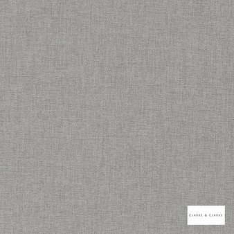 Clarke & Clarke - Highlander Ash  | Curtain & Upholstery fabric - Grey, Plain