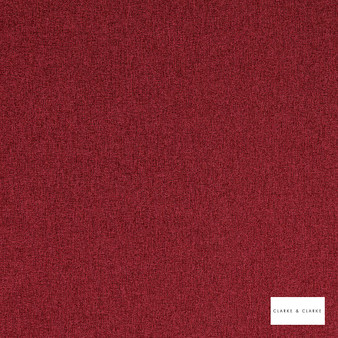 Clarke & Clarke - Highlander Crimson  | Curtain & Upholstery fabric - Red, Plain