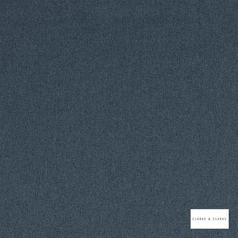 Clarke & Clarke - Highlander Navy  | Curtain & Upholstery fabric - Blue, Plain