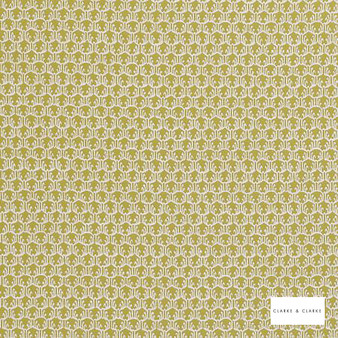 Clarke & Clarke - Honore Citron  | Curtain & Upholstery fabric - Gold, Yellow, Mediterranean, Kilim, Geometric, Pattern, Small Scale, Fibre Blend